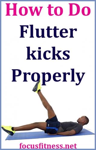 How to Do Flutter Kicks Exercise Properly - Focus Fitness