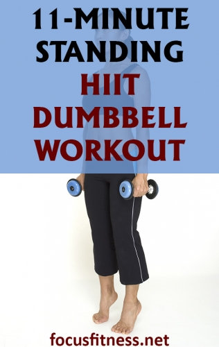 If you want to tone your abs and strengthen your core fast, add this standing HIIT dumbbell workout to your daily routine #dumbbell #HIIT #workout