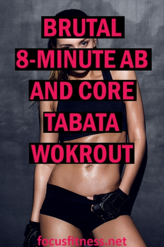 If you want to tighten your belly without long and boring workouts, do this ab and core tabata workout and watch your waistline shrink #tabata #ab #core #workout #focusfitness