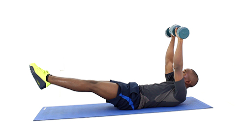 How to Do Dumbbell Hollow Body Hold