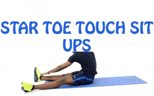 How to do Star Toe Touch Sit ups