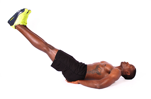 How to do Lying Abs Leg Hold