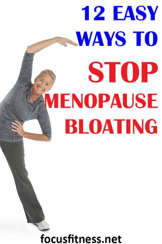 If you're struggling with bloating and excess belly fat, this article will show you how to stop menopause bloating and flatten your belly #menopause #bloating #focusfitness