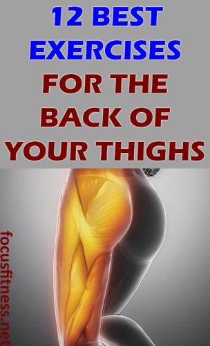 In this article, you will discover the best exercises for the back of the thighs without weights or machines for men and women. #exercises #thighs #focusfitness