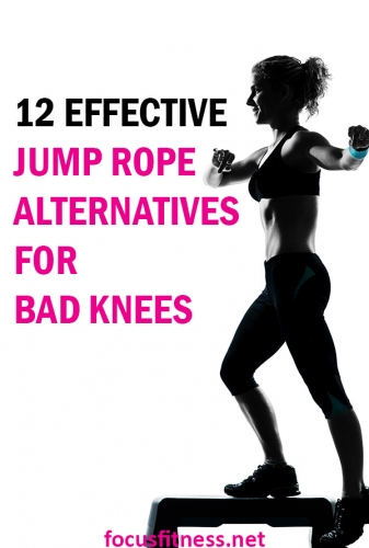 If you are looking for jump rope alternatives for bad knees, this article will show you simple exercise to keep you fit without straining your knees. #jump #rope #alternatives #badknees